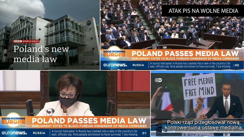 Zagraniczne telewizje o przegłosowaniu ustawy anty-TVN