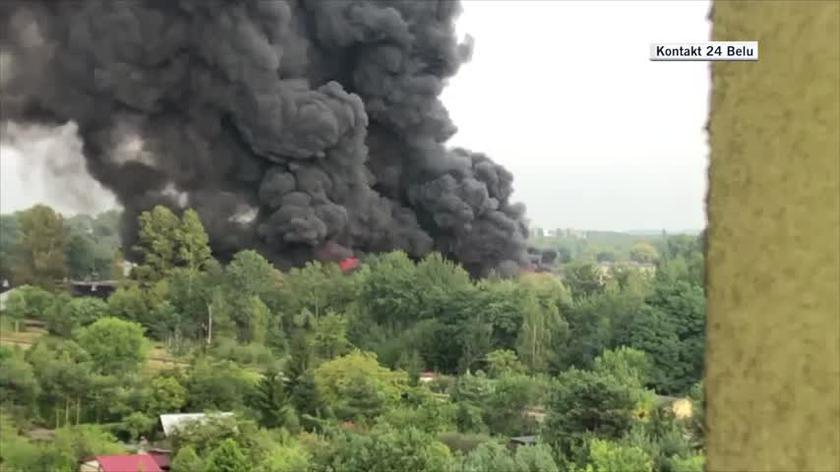 Sosnowiec. Pożar wysypiska śmieci