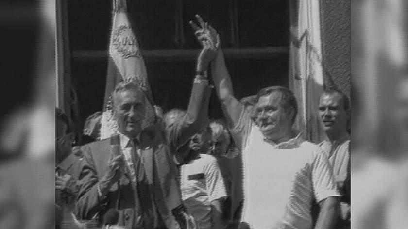 Tadeusz Mazowiecki na nagraniach archiwalnych