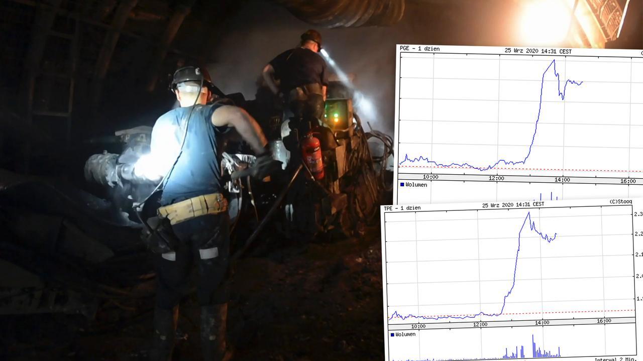 Kursy górniczych spółek wystrzeliły. Dwucyfrowe wzrosty
