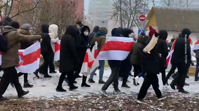 Niedzielny protest na Białorusi