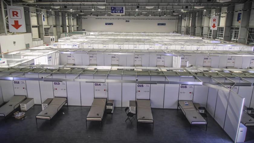 Poznań: Tak powstawał szpital tymczasowy na MTP