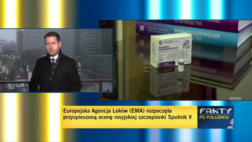 Korespondent TVN24 Maciej Sokołowski o działaniach EMA w sprawie szczepionki Sputnik V