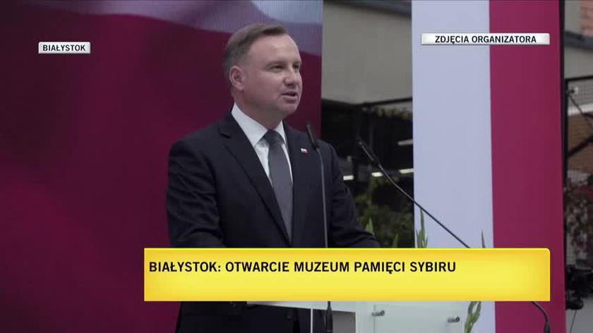 Prezydent RP Andrzej Duda na uroczystym otwarciu Muzeum Pamięci Sybiru