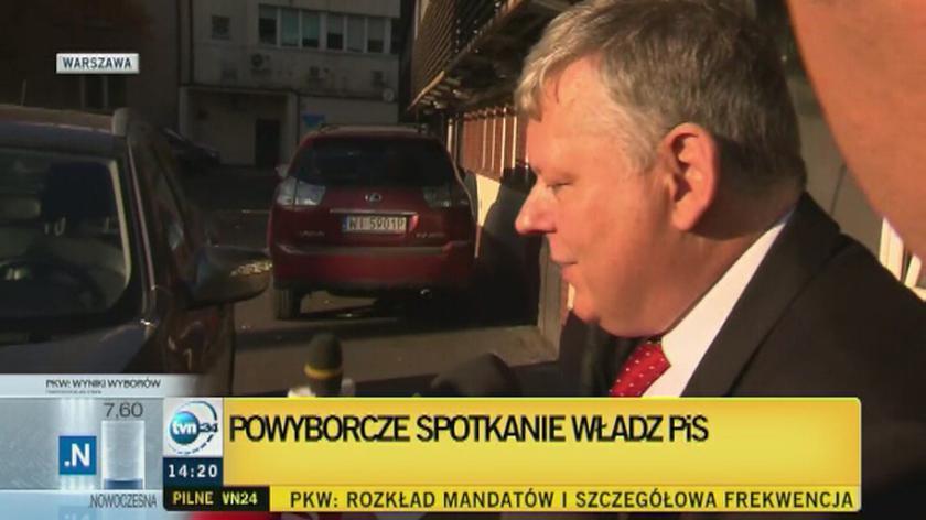 Marek Suski przybył na spotkanie władz PiS