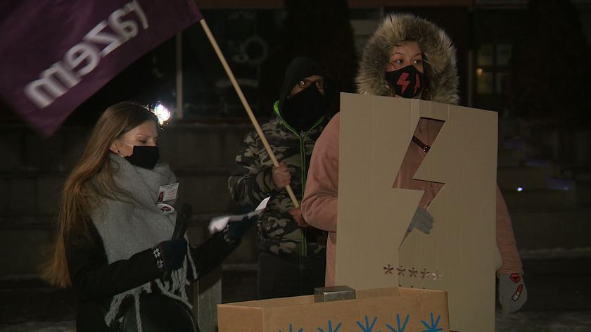 Protest w Stargardzie