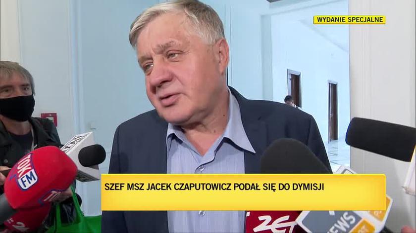Krzysztof Jurgiel o dymisji Jacka Czaputowicza