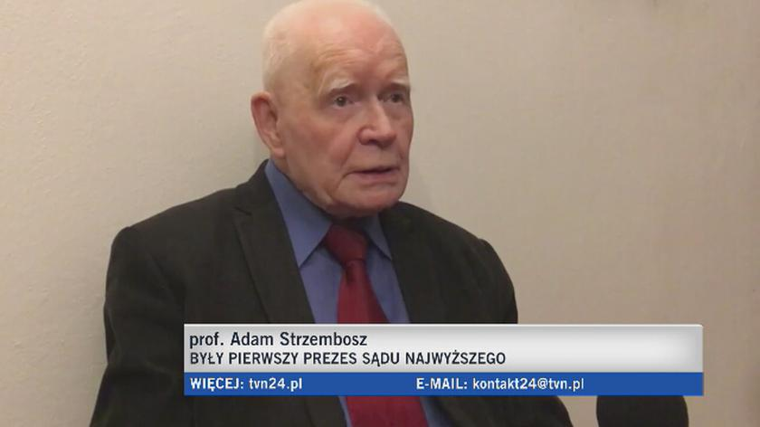 Prof. Adam Strzembosz o odrębności i niezależności sądów