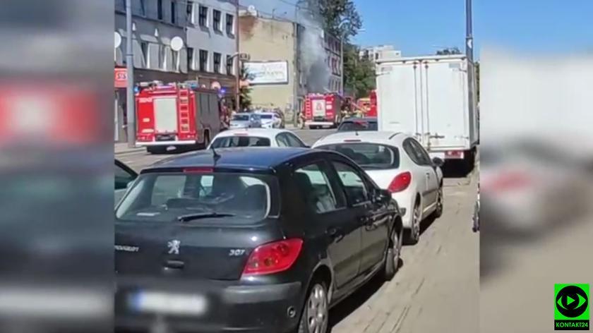 Pożar mieszkania w Łodzi
