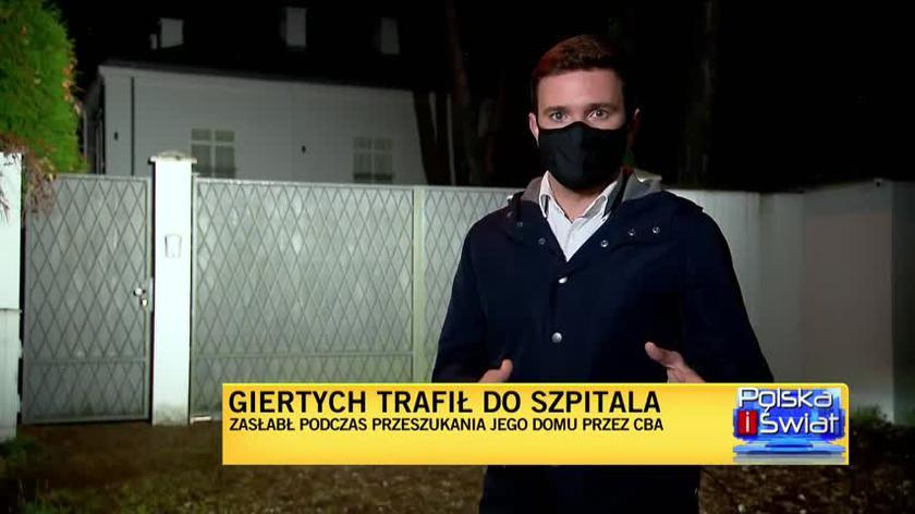 Reporter TVN24: agenci CBA wyszli z domu Giertycha z teczkami pełnymi dokumentów