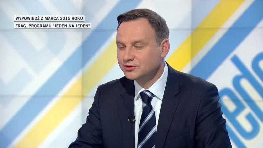 Jak Andrzej Duda wypowiadał się o debatach w 2015 roku?