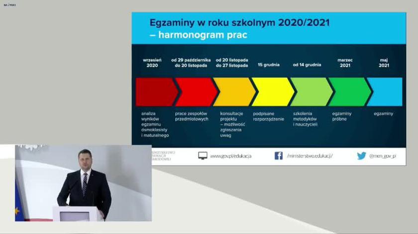 Zmiany w egzaminach maturalnych i ósmoklasistów. Minister Czarnek o harmonogramie prac