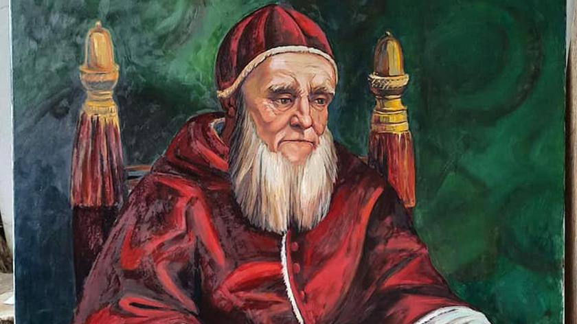 Ktoś ukradł reprodukcję portretu Świętego Papieża Juliusza II. Oryginał namalował na początku XVI wieku Rafael Santi