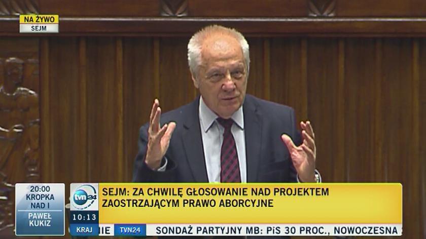 Niesiolowski (PO) podczas dyskusji o zakazie aborcji