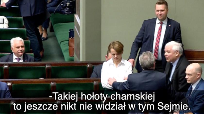 Kaczyński: takiej hołoty chamskiej to jeszcze nikt nie widział w tym Sejmie