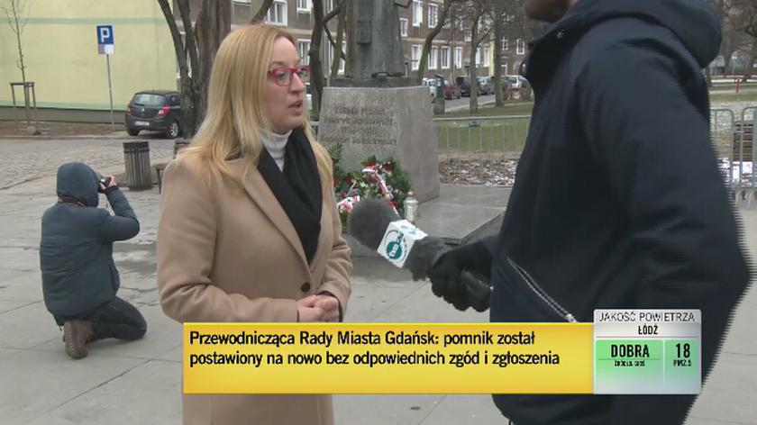 Przewodnicząca Rady Miasta o postawieniu obalonego pomnika