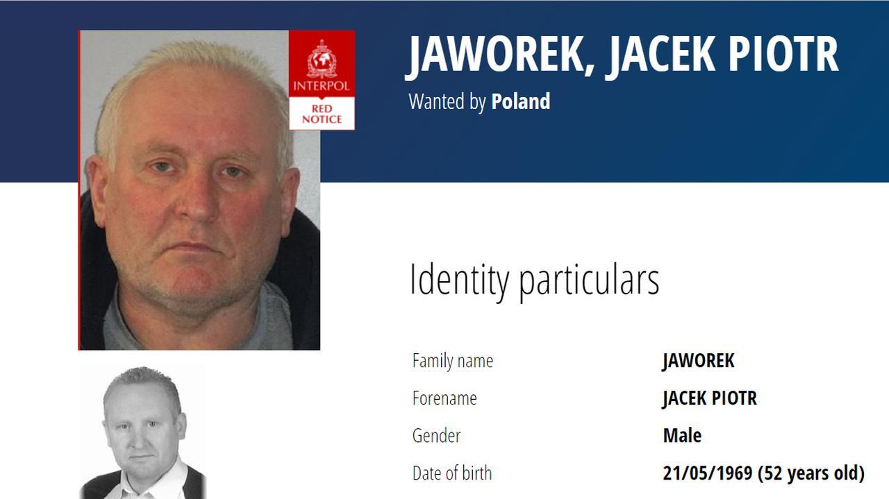 Jacek Jaworek zniknął po zbrodni, jest poszukiwany czerwoną notą Interpolu