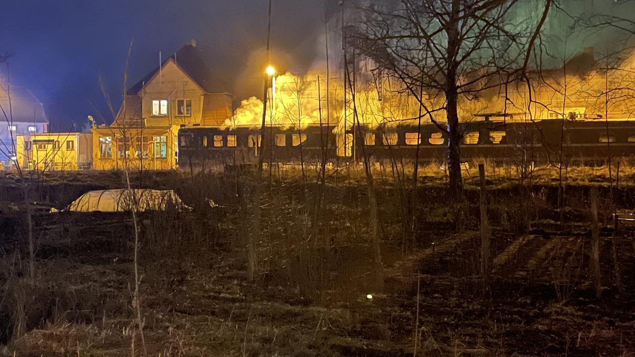Pociąg w ogniu. Spłonęły