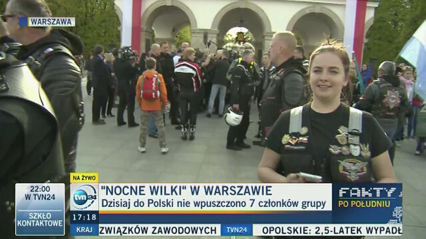 Nocne Wilki w Warszawie