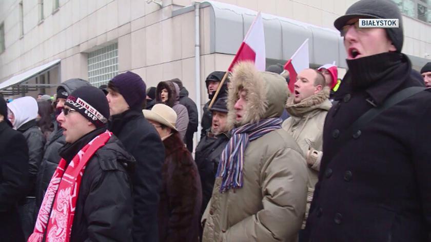 """""""Białystok wolny od imigrantów"""". Pikieta narodowców [materiał z 2016 roku]"""