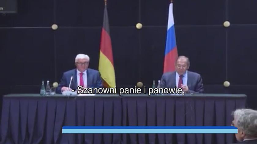 Spotkanie szefów dyplomacji Rosji i Niemiec