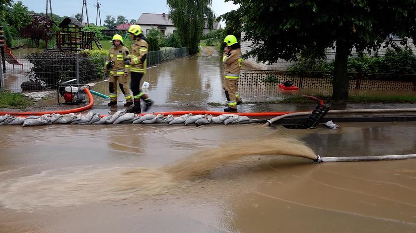 Skutki opadów deszczu w Prabutach