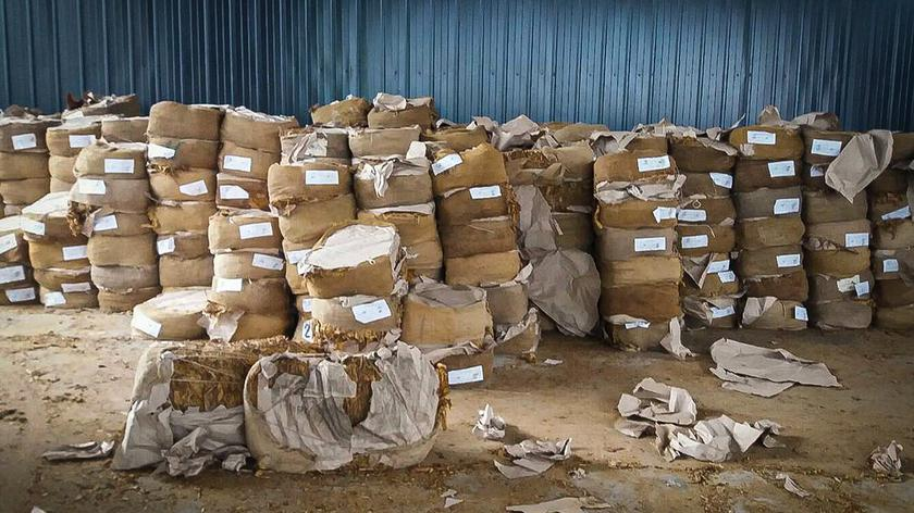 Przejęto łącznie ponad 21 ton nielegalnego tytoniu