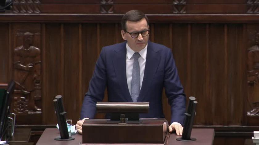Premier Morawiecki w Sejmie: polexit to fake news