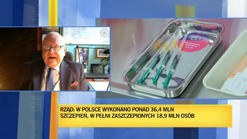Borkowski: czwarta fala może być niebezpieczna dla osób, które nie zaszczepiły się w sposób całkowity