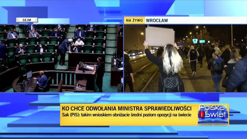Kamila Gasiuk-Pihowicz z KO podczas debaty nad wotum nieufności wobec Ziobry