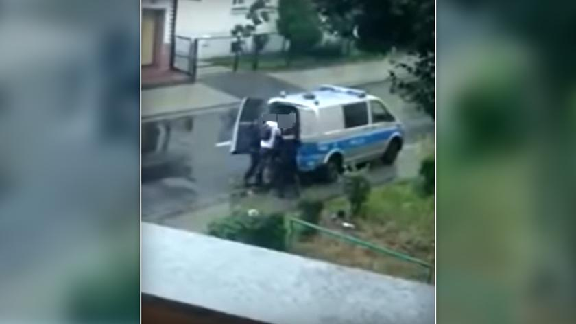 Nagranie z policyjnej interwencji w Lubinie