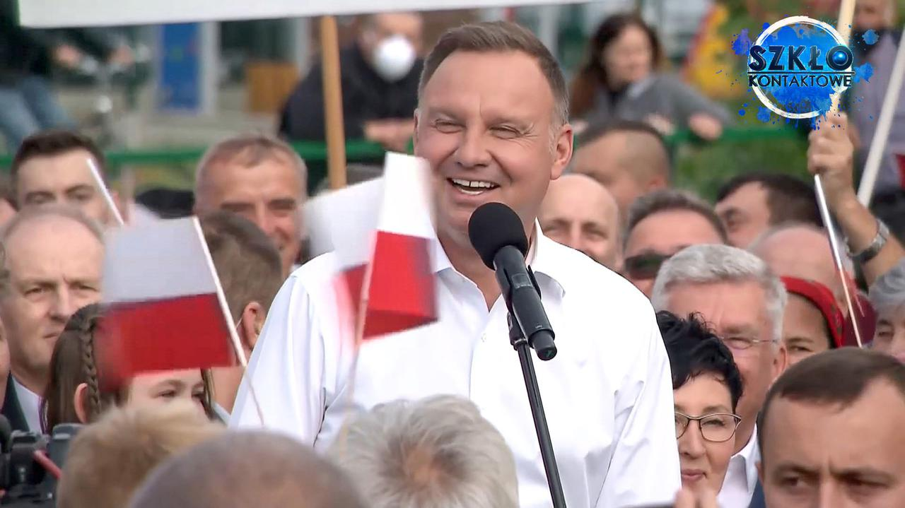 Andrzej Duda przejęzyczył się, zarymował i sam się rozbawił