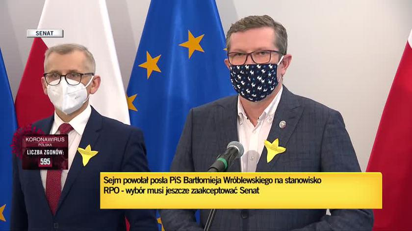 Senator Bosacki o głosowaniu w sprawie kandydatury Wróblewskiego: Senat nie przyłoży do tego ręki