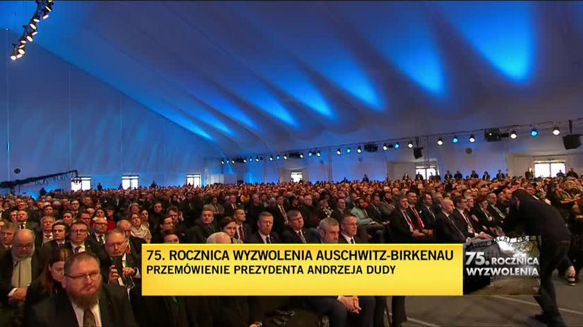 Przemówienie Andrzeja Dudy. 75. rocznica wyzwolenia Auschwitz