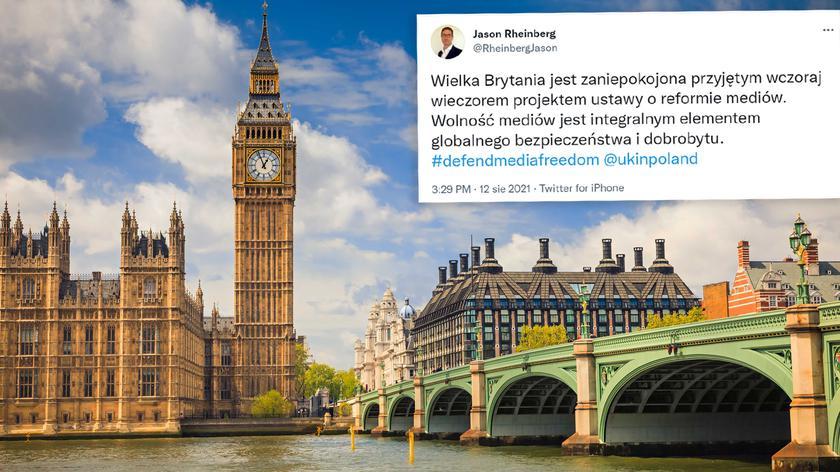 Jason Rheinberg, Zastępca Szefa Misji w Ambasadzie Brytyjskiej o lex TVN