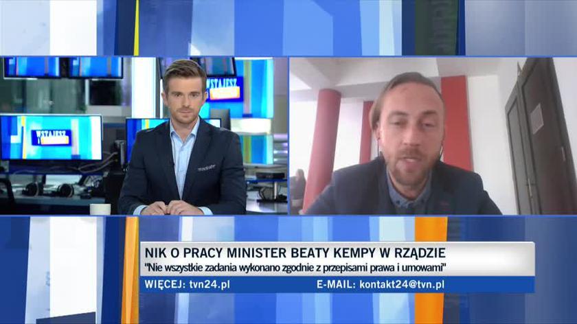 Krzysztof Izdebski, prawnik i dyrektor programowy fundacji ePaństwo, o raporcie NIK o pracy minister Kempy. Cała rozmowa