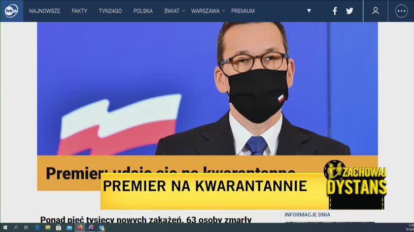 Rzecznik rządu Piotr Mueller: premier miał kontakt z osobą, która jest zarażona, nie jest to polityk