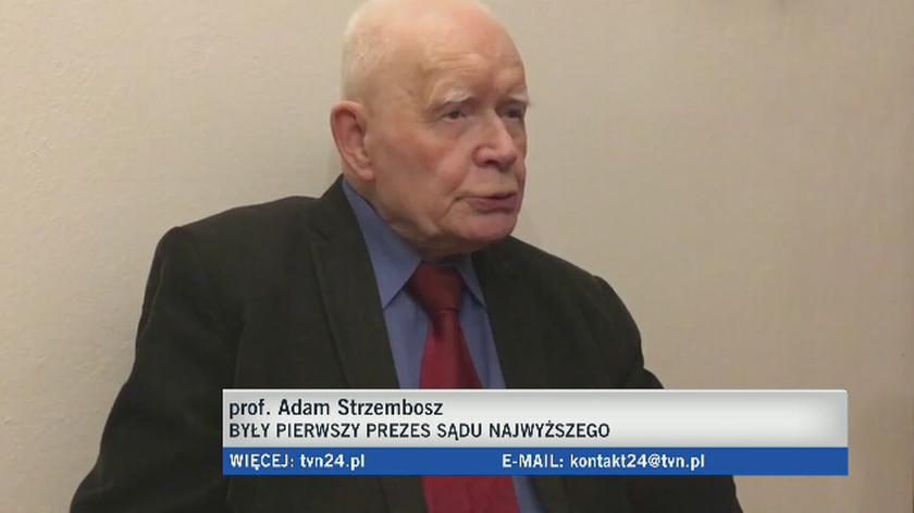 Prof. Adam Strzembosz o dwóch Sądach Najwyższych