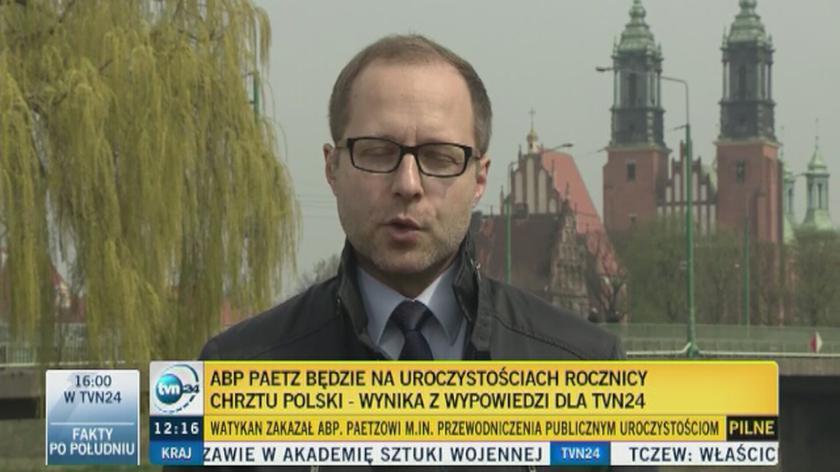 Abp Paetz weźmie udział w uroczystościach z okazji 1050. rocznicy chrztu Polski