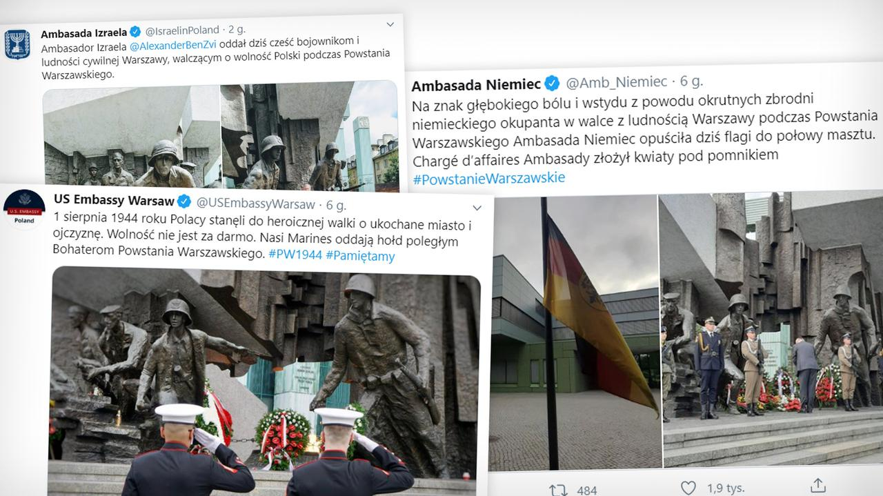 Ambasada Niemiec opuściła flagi do połowy masztu.