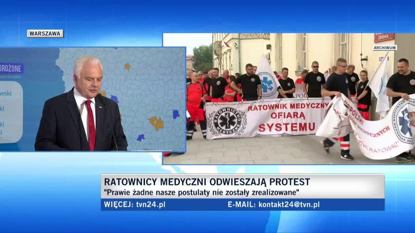Wiceminister zdrowia: jestem troszkę zdziwiony protestem ratowników medycznych