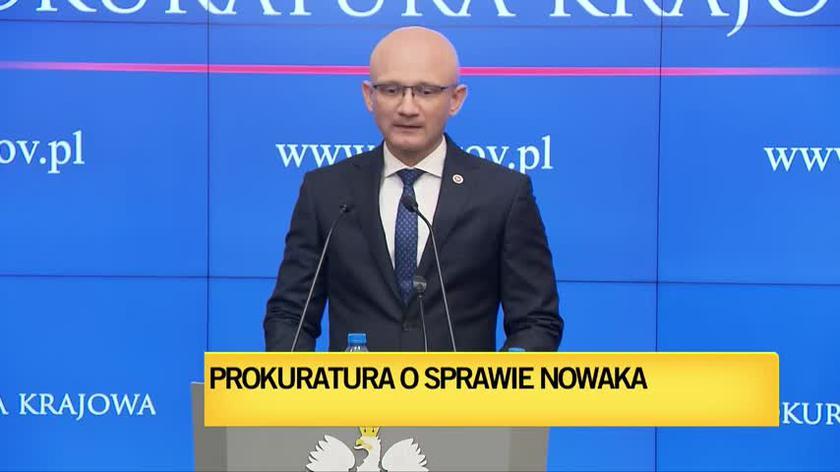 Konferencja prokuratury na temat sprawy Sławomira Nowaka