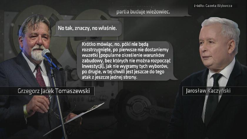 """Taśmy Kaczyńskiego. Fragment 1. """"Postawił zarzuty: partia buduje wieżowiec"""""""