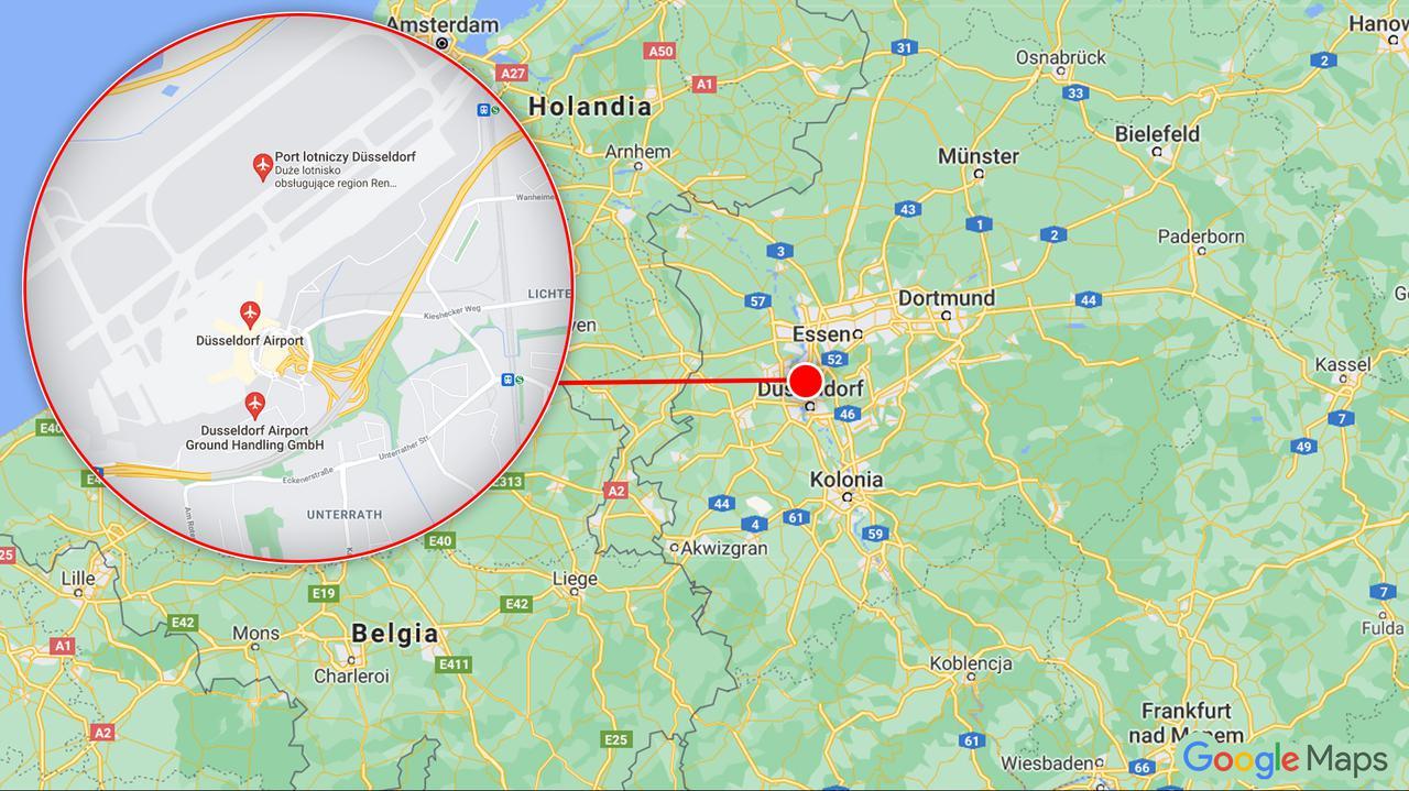 Atak nożownika na lotnisku w Duesseldorfie. Napastnik pozostaje na wolności: to bezdomny