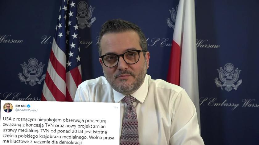 Bix Aliu: USA z rosnącym niepokojem obserwują procedurę związaną z koncesją TVN