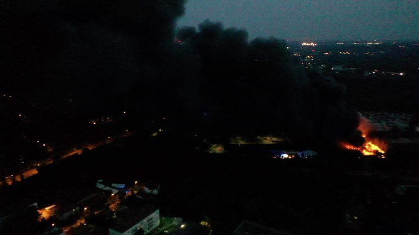 Pożar składowiska odpadów w Sosnowcu