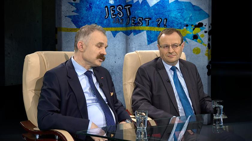 prof. Antoni Dudek i prof. Waldemr Paruch w Tak Jest