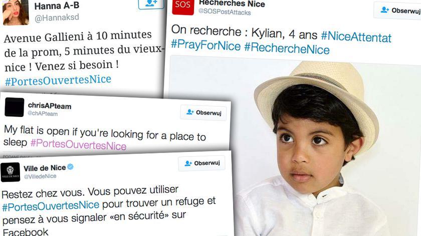 #PortesOuvertesNice. Francuzi wskazują droge do bezpiecznych miejsc