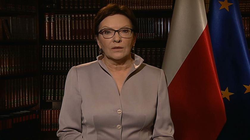 Ewa Kopacz w wystąpieniu nt. uchodźców