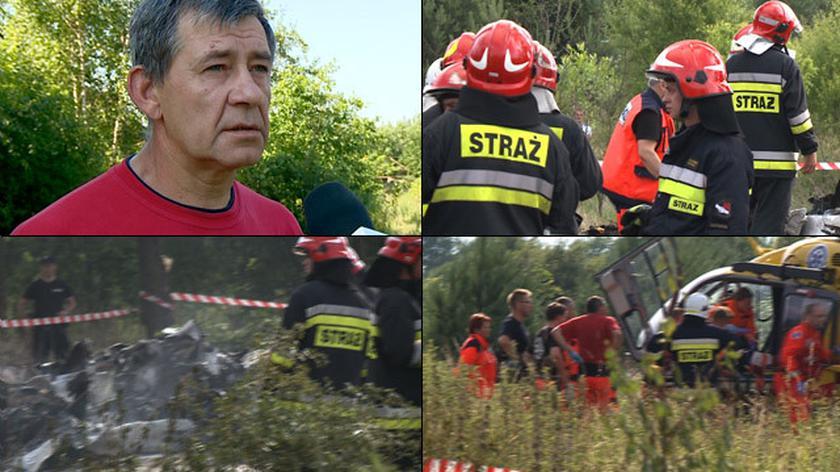 Były strażak jako pierwszy ruszył na pomoc po katastrofie